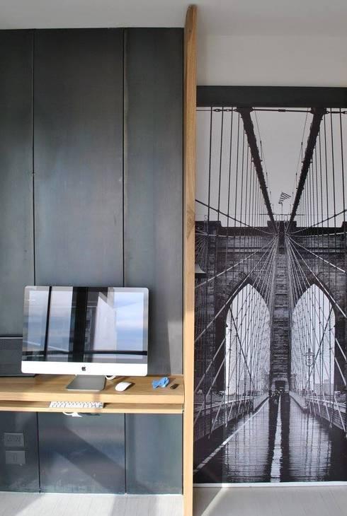 Depto DLH: Livings de estilo  por T + T Arquitectos