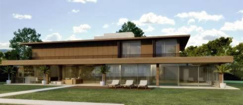Projeto: Casas modernas por Adriano Marconato Arquitetura e Planejamento