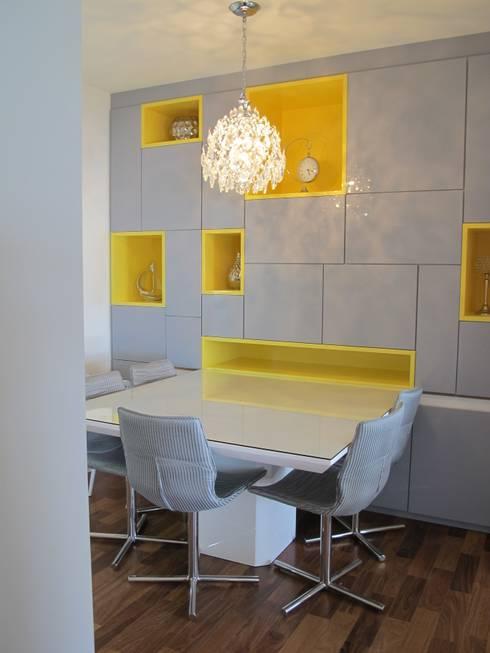 Residencia / Apartamento: Salas de jantar modernas por Andrea Vasconcelos Arquitetura e Design