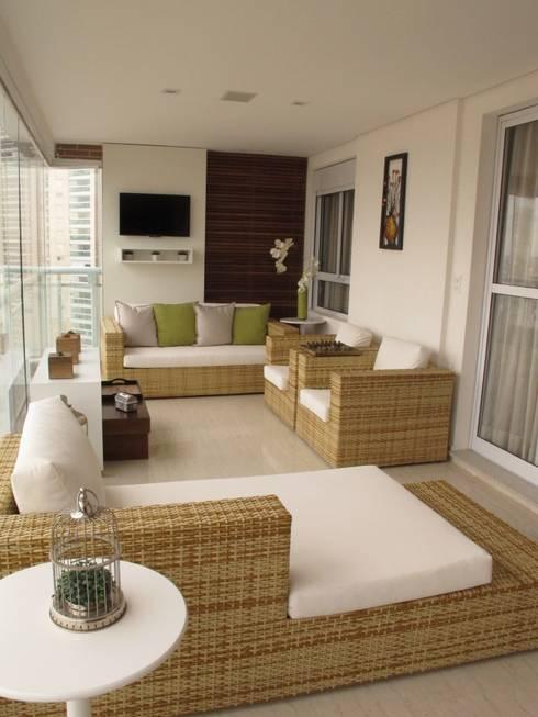 Residencia / Apartamento: Terraços  por Andrea Vasconcelos Arquitetura e Design
