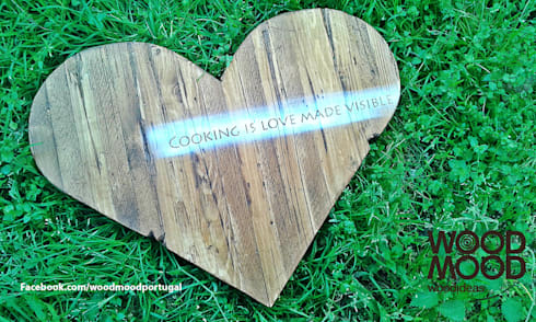 Cozinhar amor: Cozinha  por WoodMood