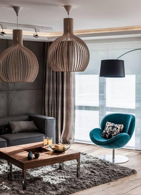 غرفة المعيشة تنفيذ Arte Dizain. Agnieszka Hajdas-Obajtek