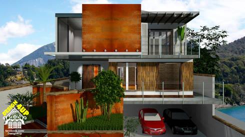 Aço Corten + Demolição: Casas modernas por Design4Up