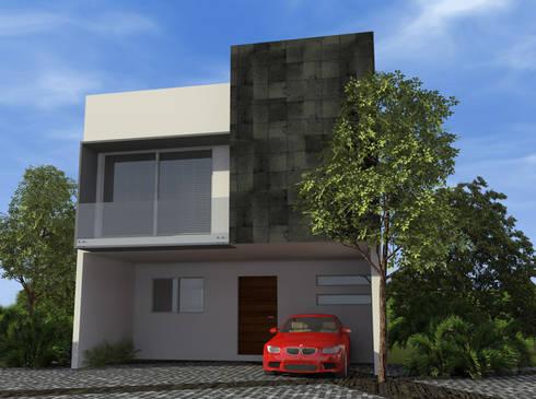Residencial Escultores: Casas de estilo moderno por studioQUATTRO.mx