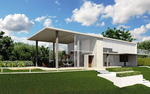Casa EM: Casas minimalistas por Aonze Arquitetura