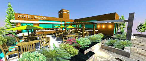 Shivam Hotel.:  Terrace by Archsmith project consultant