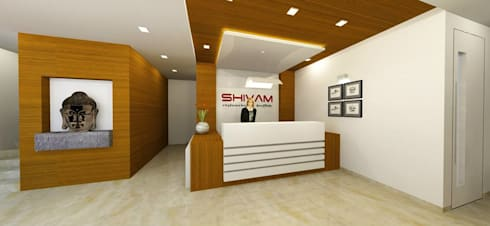 Shivam Hotel.: modern Study/office by Archsmith project consultant
