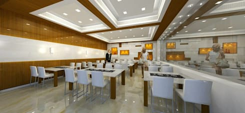Shivam Hotel.: modern Dining room by Archsmith project consultant