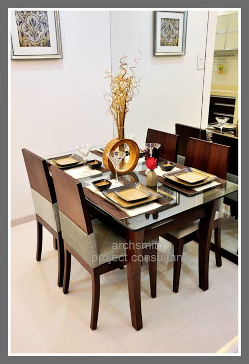 Amanora Park Town.: modern Dining room by Archsmith project consultant