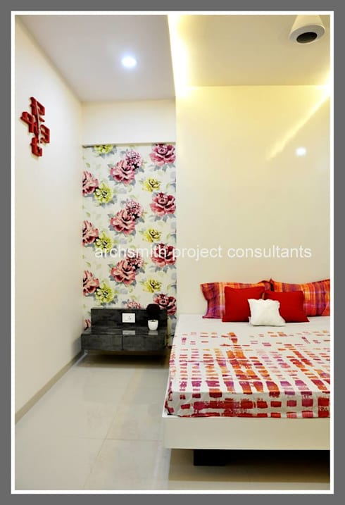Amanora Park Town.: modern Bedroom by Archsmith project consultant