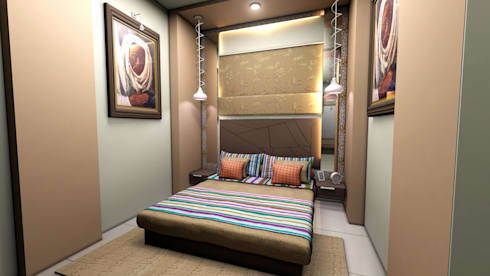 Interior Designs: modern Bedroom by ES Designs