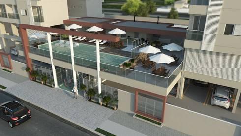 Residencial Solariun: Terraços  por Cavalheiro e Lopes Arquitetos Associados