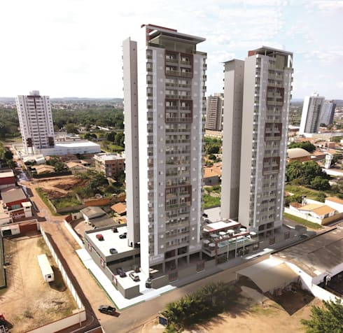 Residencial Solariun:   por Cavalheiro e Lopes Arquitetos Associados