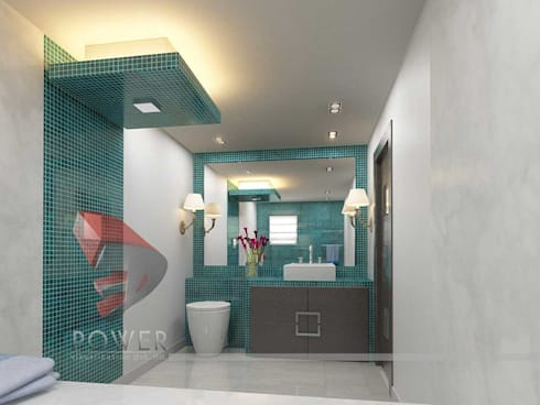 Dressing & Bathroom Interiors: modern Bathroom by 3D Power Visualization Pvt. Ltd.