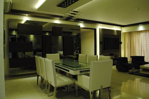 Pebble bay.: modern Dining room by Construction Associates