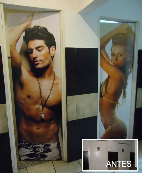 Portas de casa de banho com imagens escolhidas pelo cliente:   por CASADART.PT