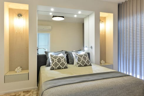 Apartamento T1 – Estoril: Quartos modernos por IDEIAS DE INTERIORES