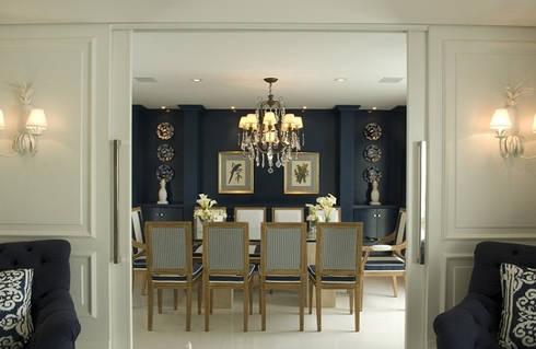 projetos: Salas de jantar clássicas por Rodrigues Moran Arquitetura e Design