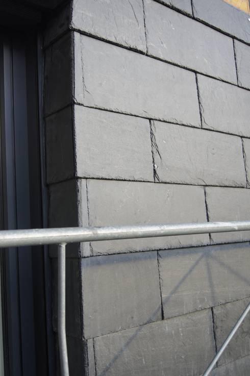 Pizarra para fachadas slate cladding de pizarra y tejado - Fachadas de pizarra ...