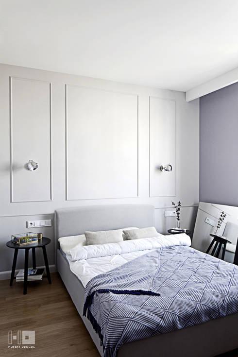 Realizacja projektu mieszkania / Warszawa: styl , w kategorii Sypialnia zaprojektowany przez Hubert Dziedzic Architektura Wnętrz