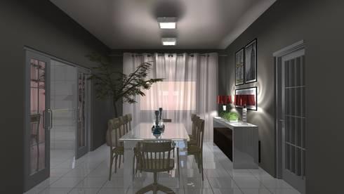 Sala de Jantar: Salas de jantar campestres por Arquiteto Lucas Lincoln