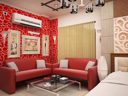Interior Designs: modern Bedroom by amit.joshi