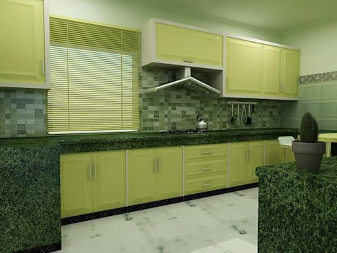 Interior Designs: modern Kitchen by amit.joshi