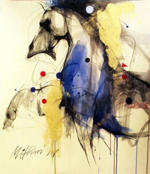 Horse Painting by Mithun Dutta:  Artwork by Indian Art Ideas
