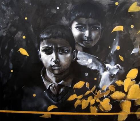 The Boys:  Artwork by Indian Art Ideas