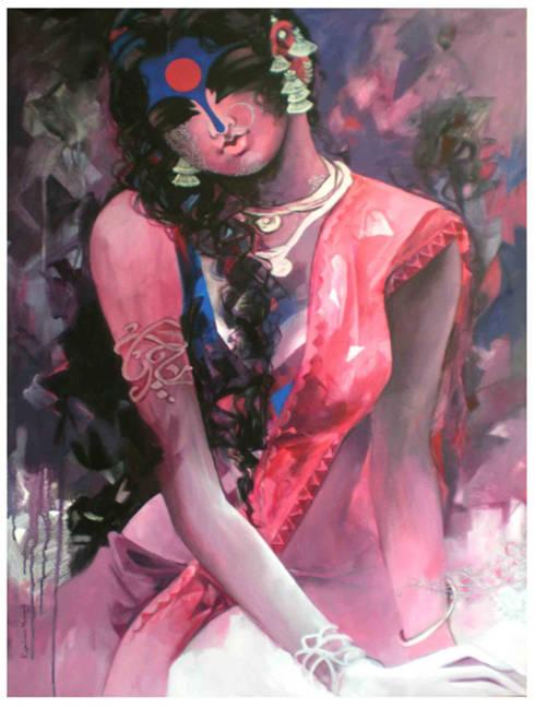 Pink Beauty:  Artwork by Indian Art Ideas