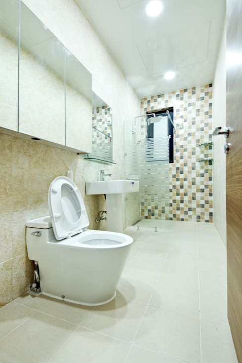 Projekty,  Łazienka zaprojektowane przez GongGam Urban Architecture & Construction
