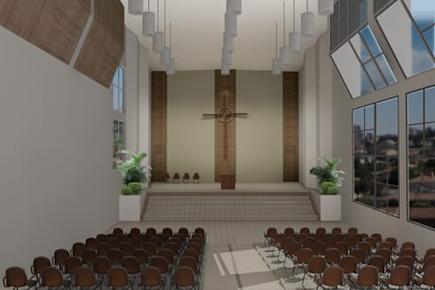 Igreja Presbiteriana Telêmaco Borba – PR:   por shileon Arquitetura
