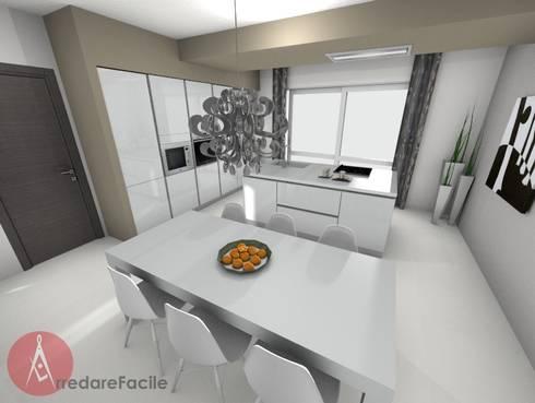 CUCINA MODERNA CON ISOLA di Arredarefacile by Id.Solutions | homify