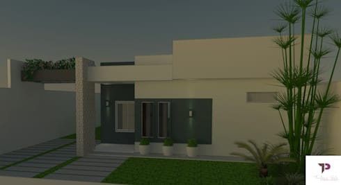 Projeto Residencial 70 m²:   por Thaylana Paula Arquitetura e Urbanismo
