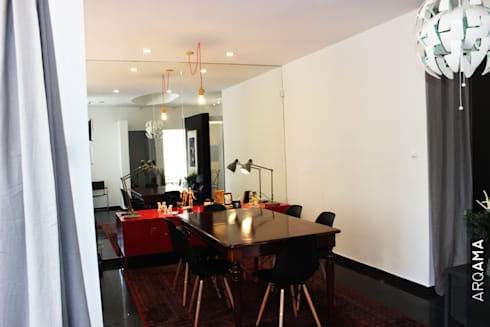 Atelier Arqama: Escritórios  por ARQAMA - Arquitetura e Design Lda