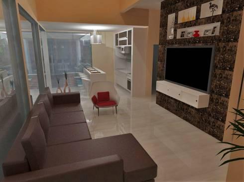 Estar mais quente: Salas de estar modernas por Natalia Costa Arquitetura