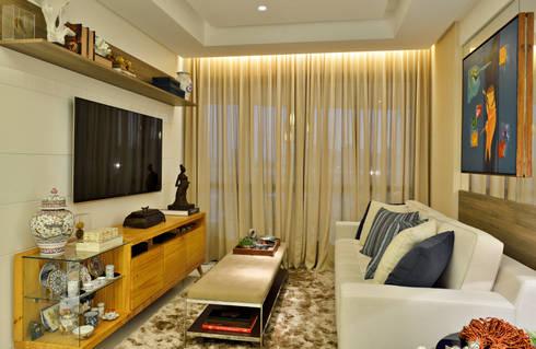 Apartamento FL: Salas de estar modernas por Bastos & Duarte