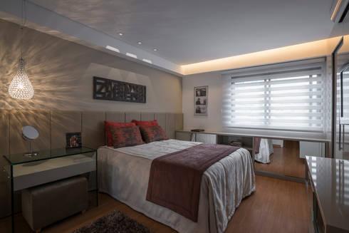 Projeto Apartamento Luxemburgo: Quartos  por Laura Santos Design