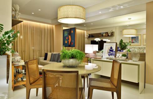 Apartamento FL: Salas de jantar modernas por Bastos & Duarte