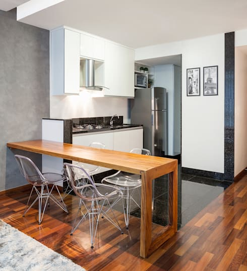 Loft Duplex: Cozinhas modernas por Laura Santos Design