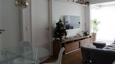 Decoração Vila Andrade.: Salas de estar modernas por MEM Arquitetura