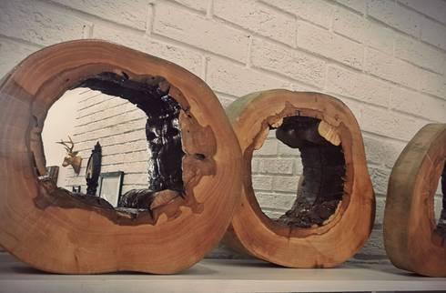 Espejos de tronco: Hogar de estilo  por Sepia interiores