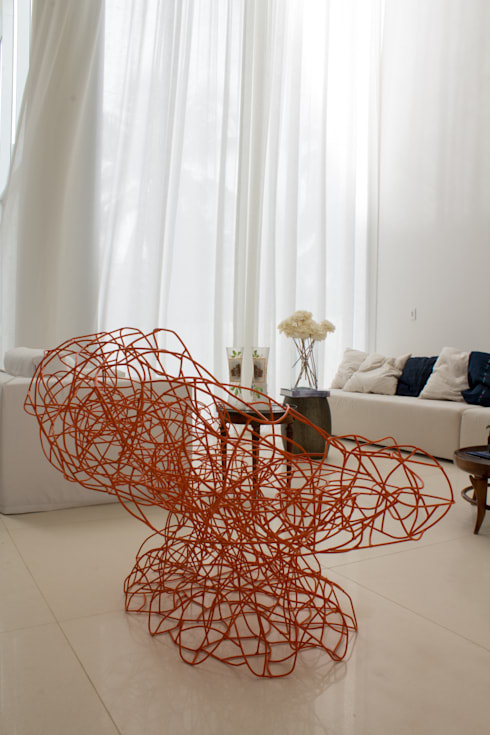 Casa Montenegro: Salas de estar  por LM Arquitetura | Conceito