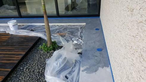 Aplicacion de microcemento en paredes exteriores de jardin - Aplicacion de microcemento ...