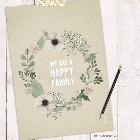 ★ poster ★ we are a happy family ★: Casa  por Digo