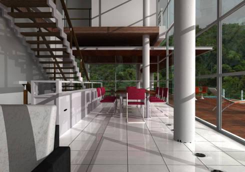 casa panorâma: Casas modernas por GNC arquitetura e interiores