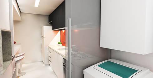 APARTAMENTO URBANO: Cozinhas modernas por Maxma Studio