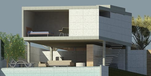 casa pilotis: Casas modernas por GNC arquitetura e interiores