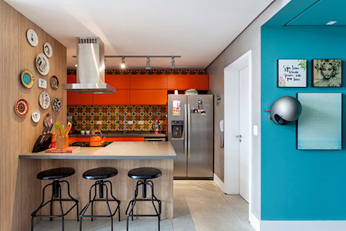 OPEN HOUSE | MELINA ROMANO: Cozinha  por Casa de Valentina