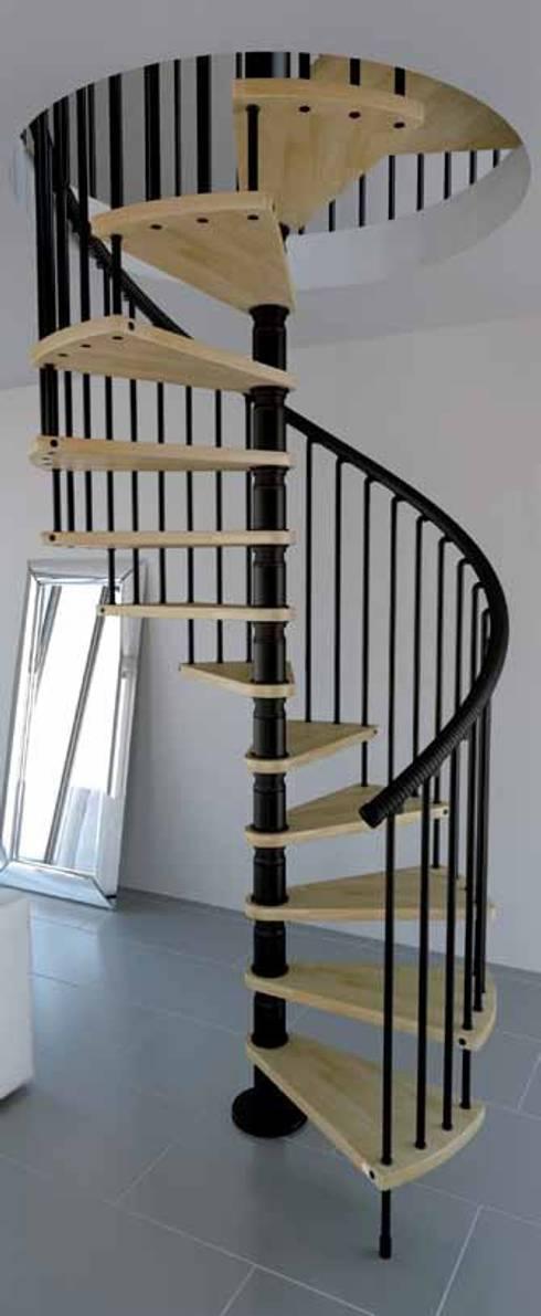 Escalera gamia wood y metal de rintal homify - Cerrar escalera caracol ...